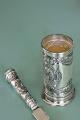 Abrecartas y Porta Lapices de plata 925