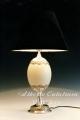 Lámpara con huevo de Avestruz y Plata